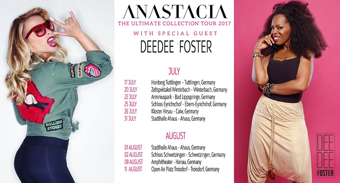 DeeDee Foster, Support-Act Anastacia